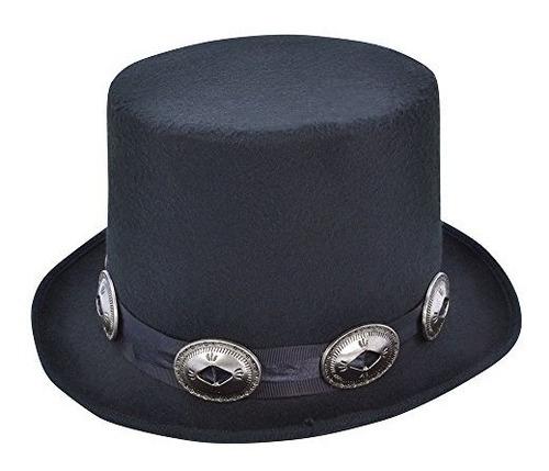 sombrero de copa black rocker style