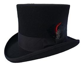 elige lo último primera vista mejor venta Sombrero De Copa Negro Elegante Para Hombres 100% Lana