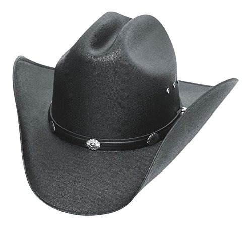 sombrero de cowboy clásico de paja de cattleman con conchos