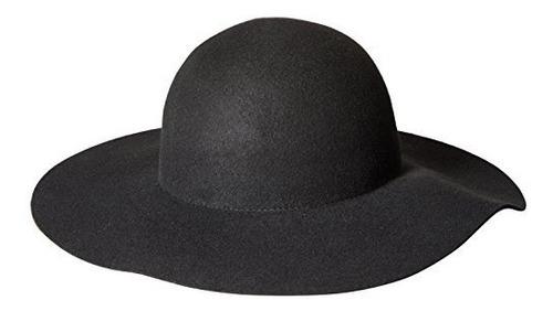 sombrero de fieltro de lana de ala ancha para mujeres scala