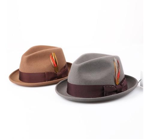 sombrero de fieltro de lana fedora de janetshats sombrero
