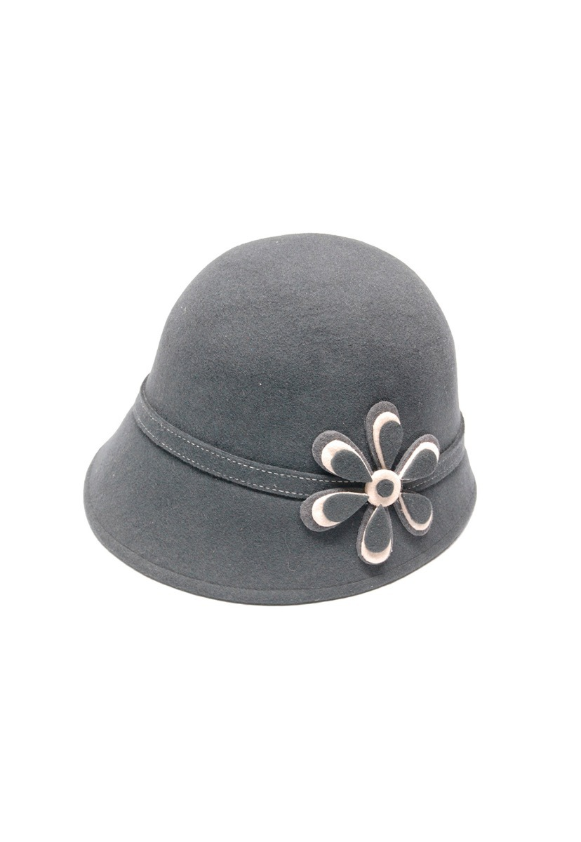 Sombrero de fieltro gris para mujer importado de ecuador cargando zoom jpg  828x1200 Sombreros de mujer 3bfe40124aa