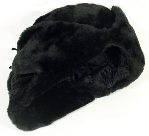 sombrero de invierno del ejército militar ruso ushanka blac