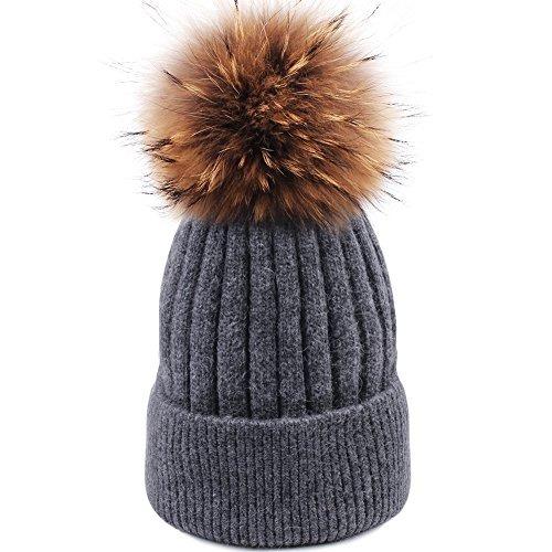 fd9c01463e5 Sombrero De Invierno Para Mujer Con Pompón Gorro De Lana A ...
