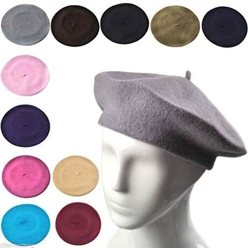 sombrero de los sombreros de la boina de las lanas del color