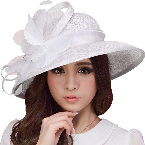f19befb3ae7d8 Sombrero De Mujer Joven De Junes Sombrero Blanco De Verano D ...