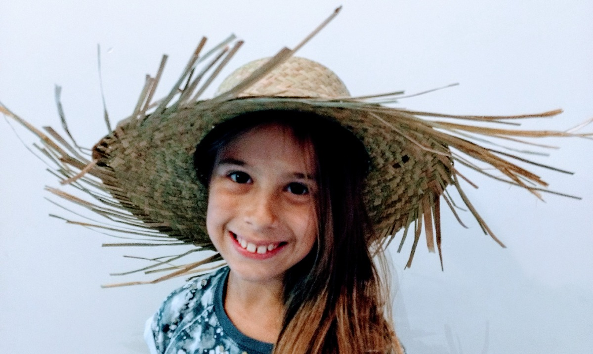 sombrero de paja campesino adulto infantil unisex. Cargando zoom. 18c4a29a29d