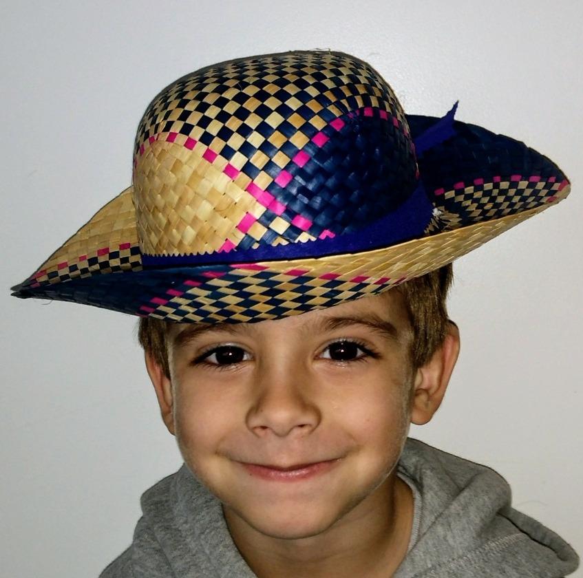 sombrero de paja campesino color infantil combinado. Cargando zoom. 6fa17775f4a