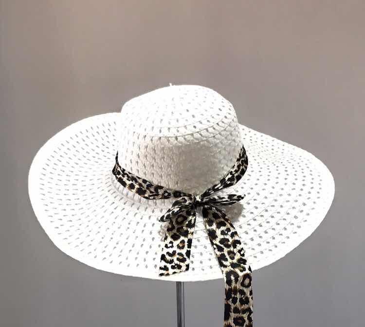 e22e982c26892 Sombrero De Paja Mujer Verano Playa Blanco - S  45