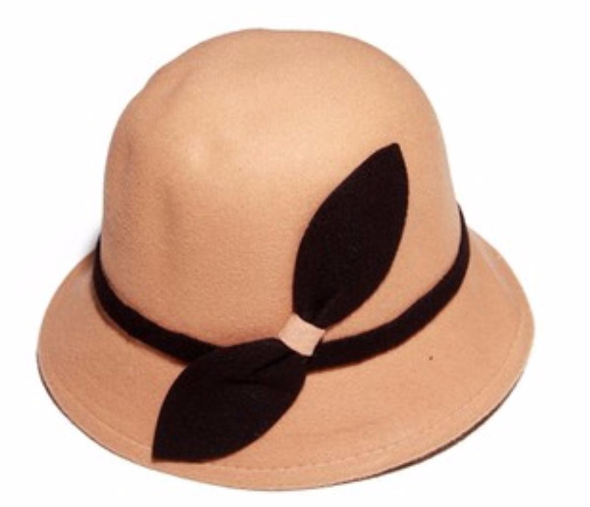 sombrero de pana ala copa redonda color marron con negro. Cargando zoom. 80f46b4cedd8