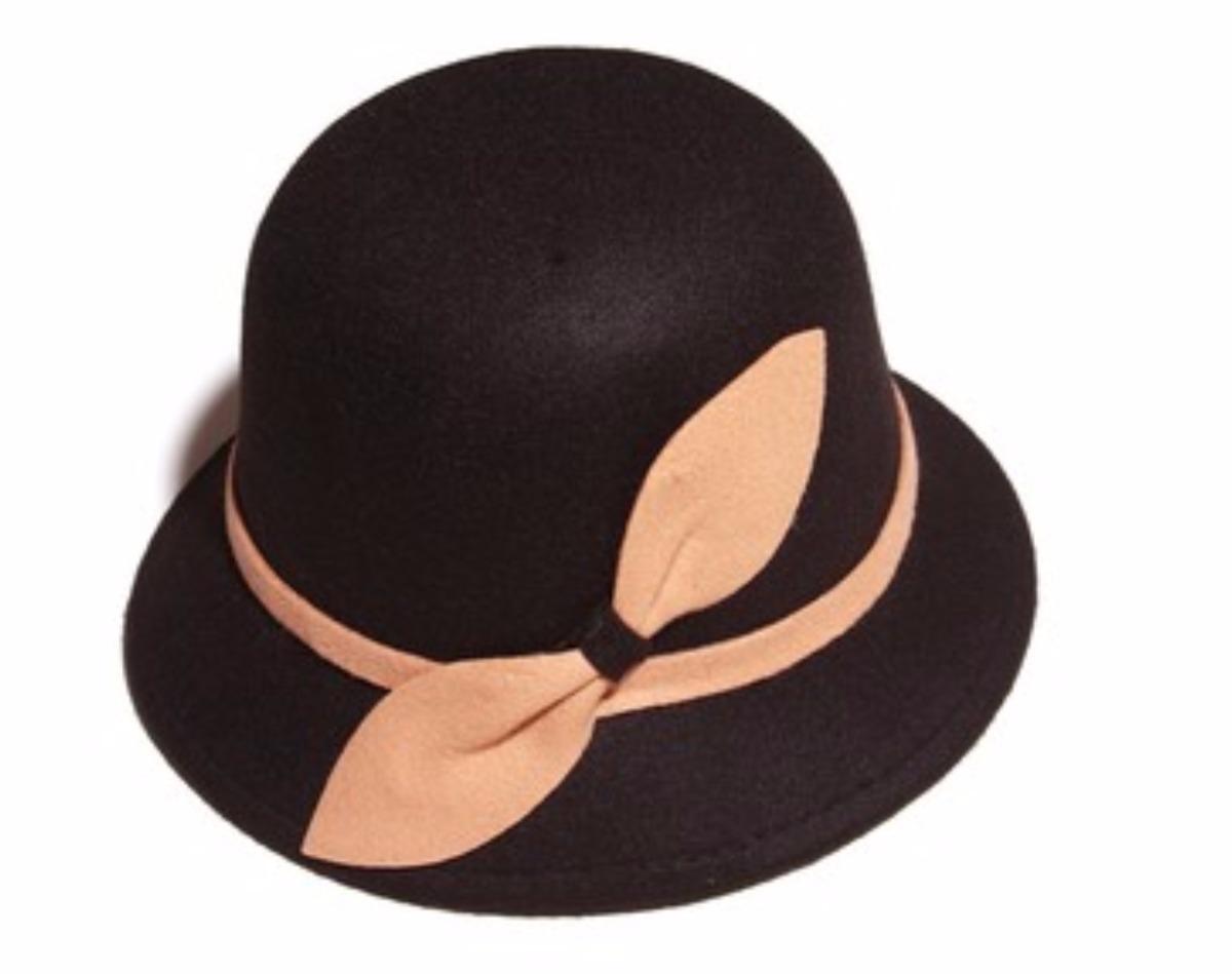 sombrero de pana ala copa redonda color negro con marron. Cargando zoom. 6154af4e4357