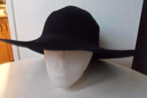 sombrero de paño color zul oscuro para teatro