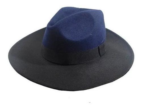 sombrero de paño dos colores ec 050