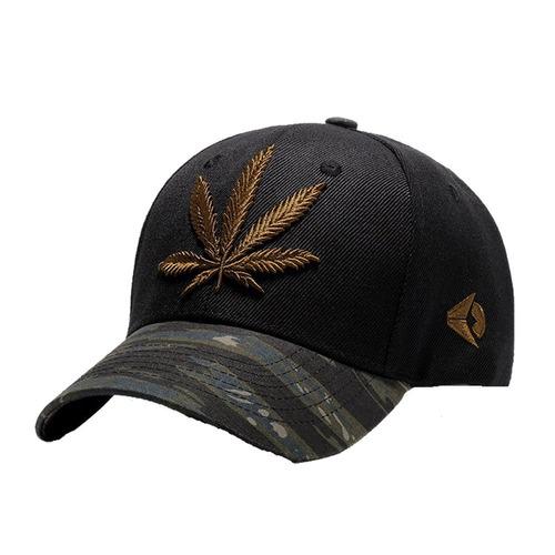 sombrero de snapback bordado de las hojas de la marijuana de