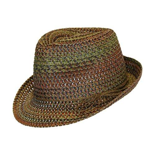 Sombrero De Sol Fedora Straw Fedora De Boho Festival En Tono ... f611dcf851c