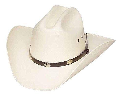 sombrero de vaquero de paja cattleman classic con conchos de