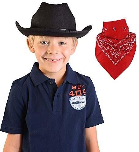 sombrero de vaquero niño de calidad sombrero con bandana de