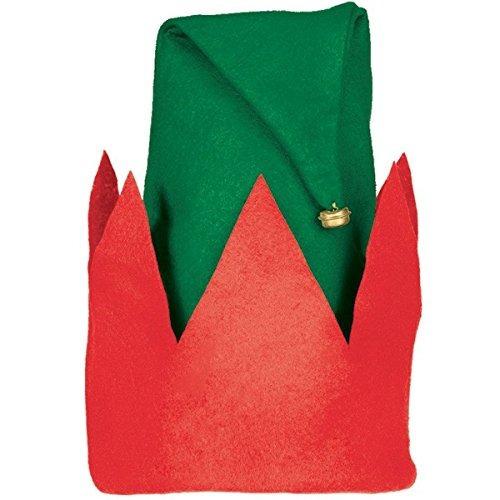 sombrero duende infantil verde rojo fieltro lleno diversión
