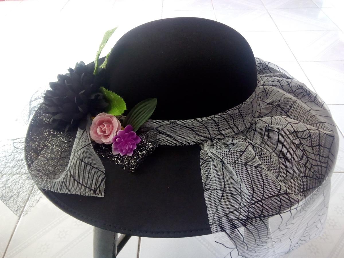 Sombrero Elegante De Catrina 2ba532c702d