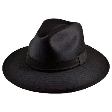sombrero fedora de gabardina para hombre muy elegante
