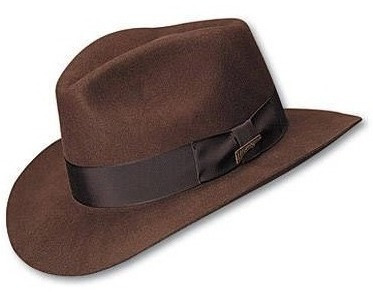 sombrero fedora de lana indiana jones 100% original oficial