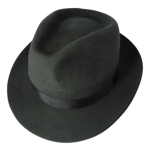 sombrero fedora fieltro natural
