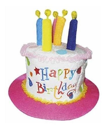Sombrero Feliz Cumpleaños Happy Birthday Pastel Velas Gorro