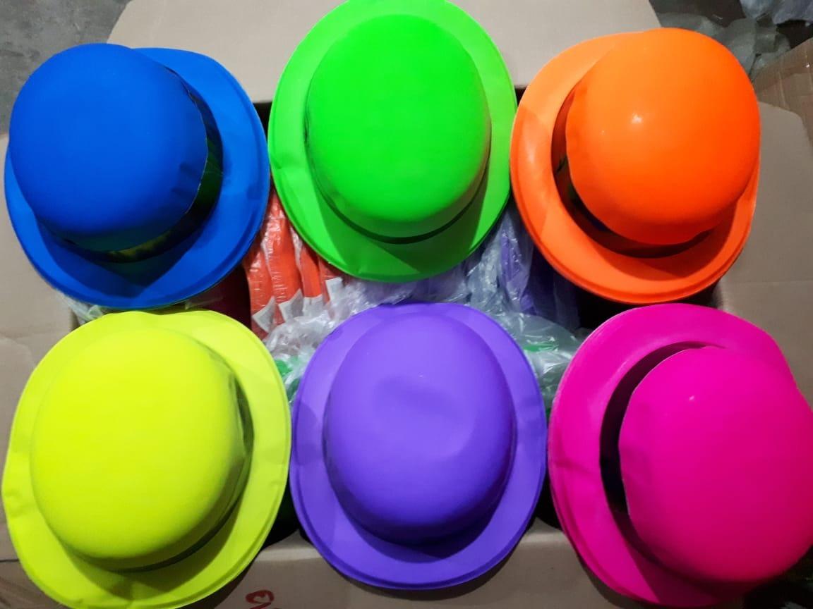 Cargando zoom... 3 100 sombrero bombin neon colores fiesta batucada boda  barato 764fac1ec92