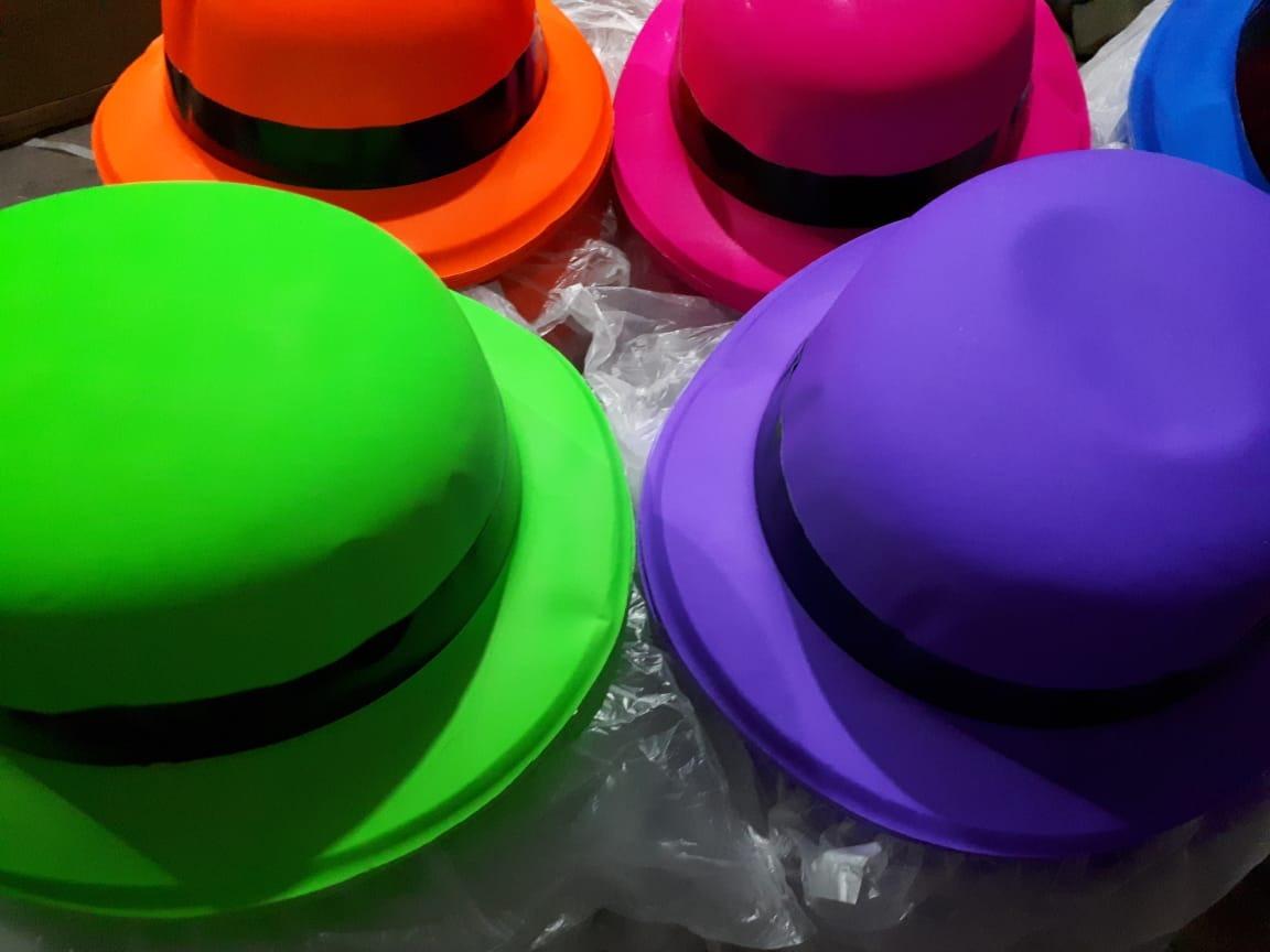 Cargando zoom... 100 sombrero bombin neon colores fiesta batucada boda  barato 264e8f81de9