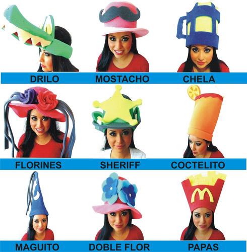 sombrero fiesta espuma dj xv batucada lente sombrero peluca