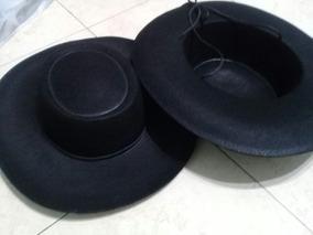 diseño elegante online diseño hábil Sombrero Gaucho Ala 8 Negro Paño Lency