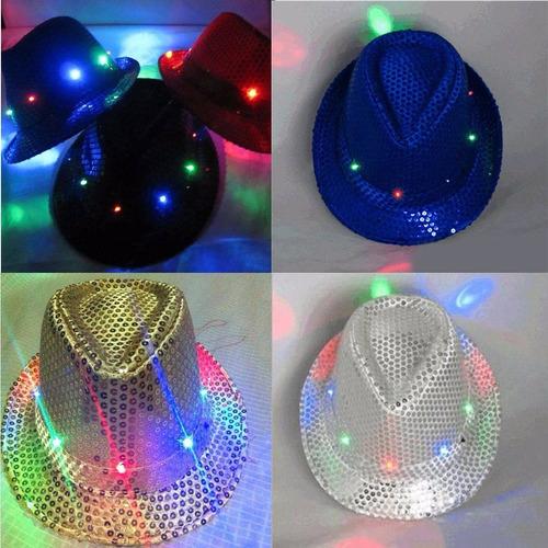 sombrero, gorro led luces neón bar discoteca fiesta pub