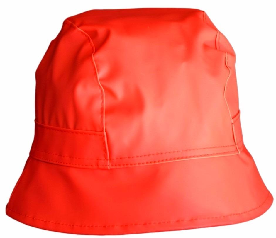 sombrero gorro lluvia sol goma color rojo diseño de autor. Cargando zoom. e800507194d
