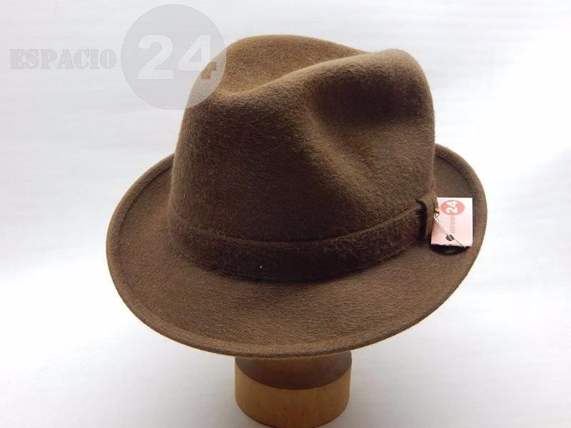 31aeb8f3deff2 sombrero hombre paño de piel de nutria color marrón italiano. Cargando zoom.