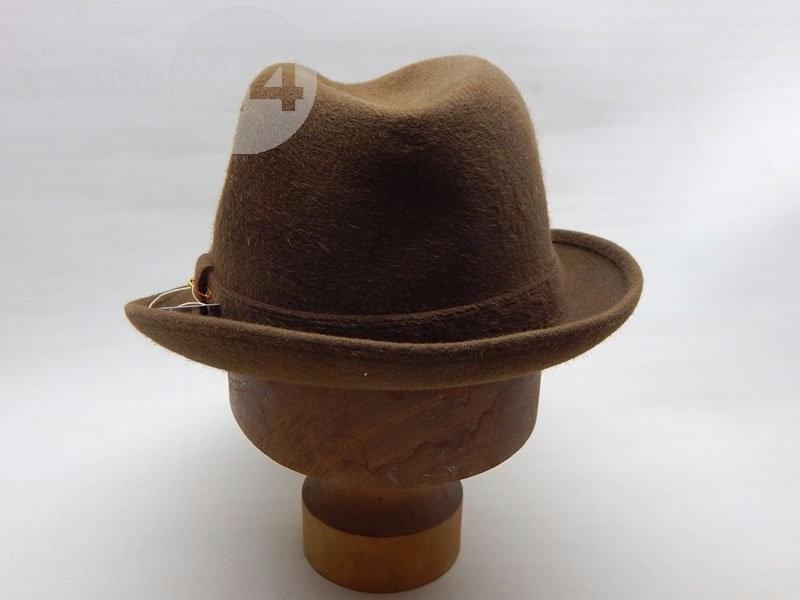 5045a63668c20 sombrero hombre paño de piel de nutria color marrón italiano. Cargando zoom.