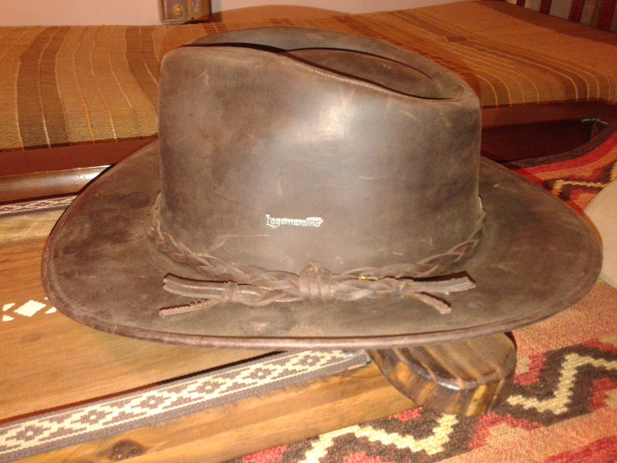 sombrero lagomarsino cuero engrasado. Cargando zoom. 69dc29b7baa