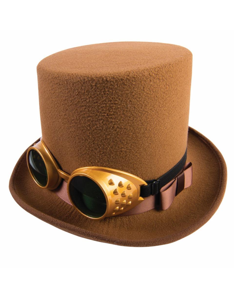 Sombrero Marrón De Steampunk Con Gafas Accesorios Para -   72.550 en ... 7a5170efe18