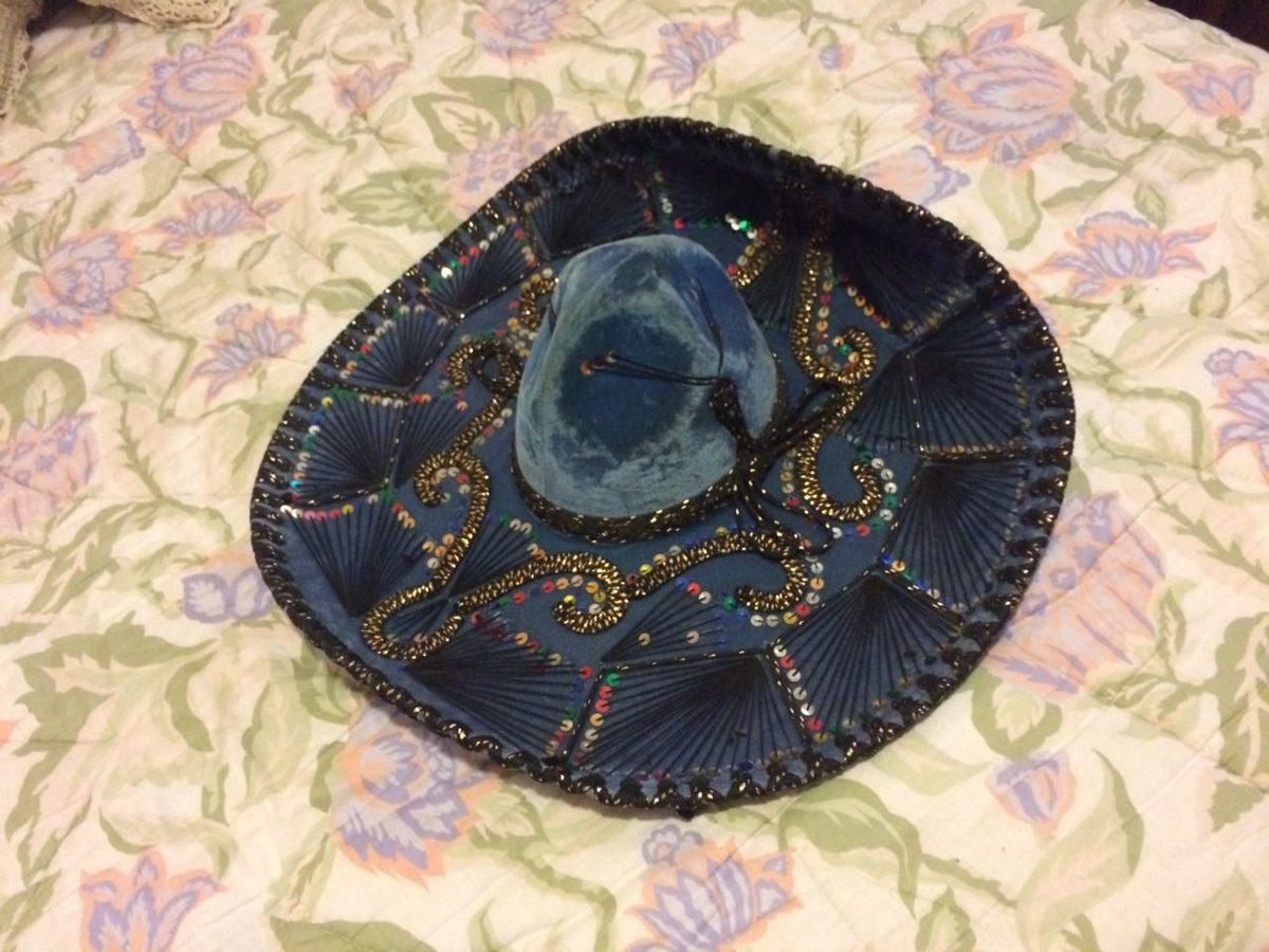 d2a93b78f455e sombrero mejicano azul pizarra. Cargando zoom.
