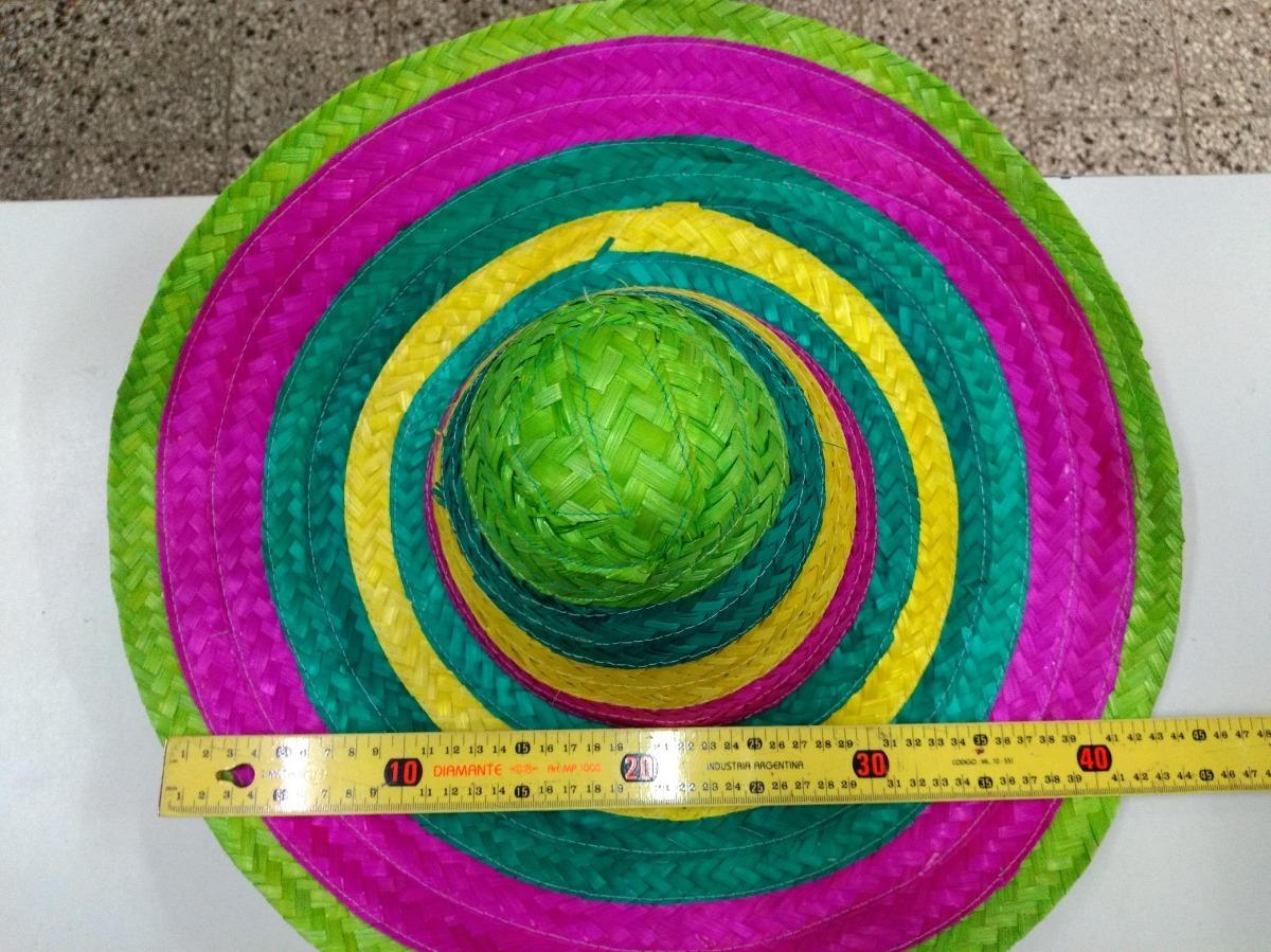 sombrero mexicano chico rafia paja multicolor cotillon. Cargando zoom. 38ebed8519f