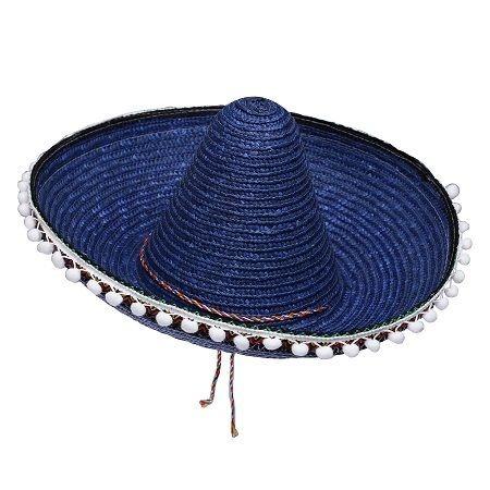 c9acb9a6751ad Sombrero Mexicano Con Borlas Azul -   418