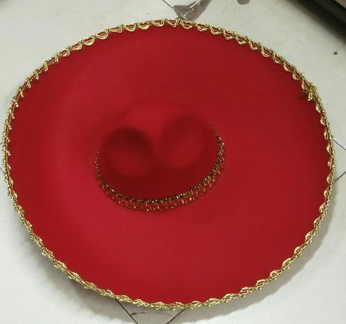 sombrero mexicano de mariachi en colores surtidos talla unic