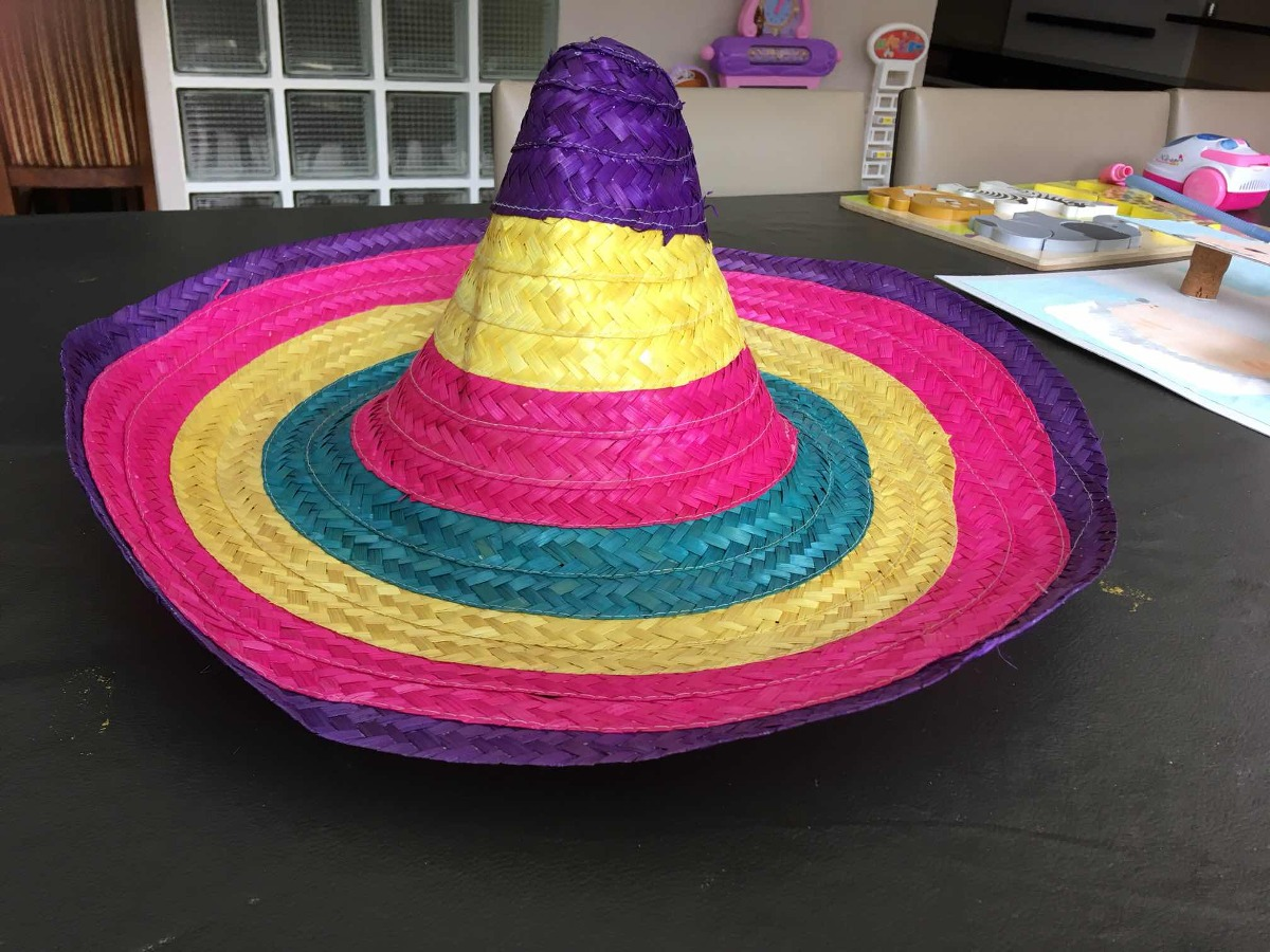 sombrero mexicano de paja - cotillon. Cargando zoom. 85c432c8d0f