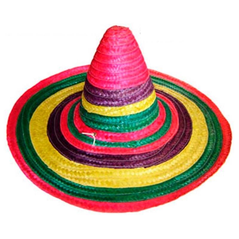 Sombrero Mexicano De Paja Cotillón Colores - Bric -   1.190 en ... 9aa080330a7