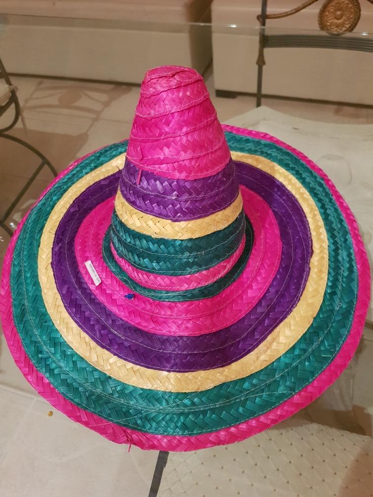 sombrero mexicano grande y colorido. Cargando zoom. 3051654e772