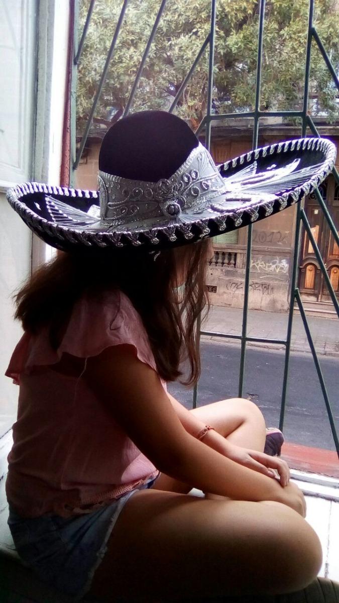 aaae25bc82f7f Sombrero Mexicano Mariachi Charro Original Tricolor O Lisos ...