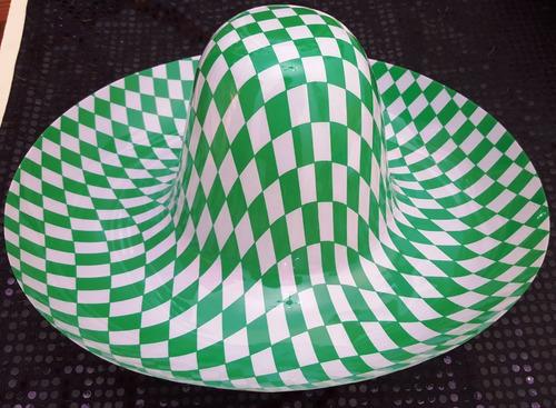 sombrero mexicano mariachi infantil de plástico x 3 unidades