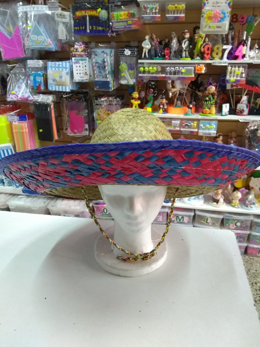 sombrero mexicano rafia paja cotillon. Cargando zoom. ec147bb930e