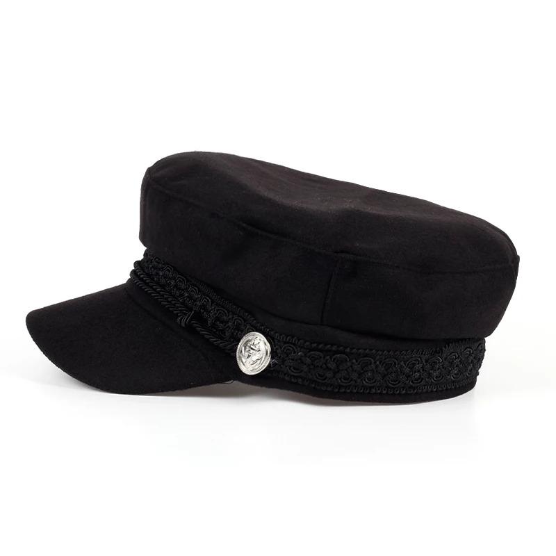 sombrero militar gorro militar boina plana jockey unisex. Cargando zoom. 73ea3c996dc