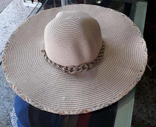 sombrero mujer playa pava en nailon tejidas a mano