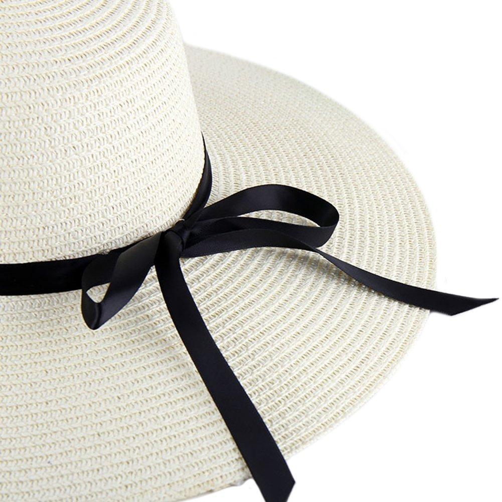 b4614f9bed7d3 Itopfox Sombrero De Ala Grande Para Mujer Sombrero De Paj ...